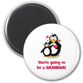 You're going to be a grandma 6 cm round magnet