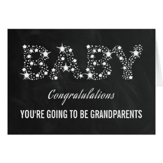 YOU'RE GOING TO BE GRANDPARENTS | ELEGANT STARS GREETING CARD