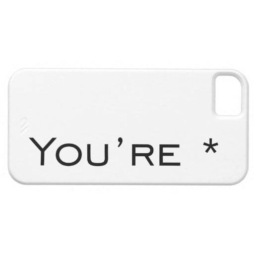 You're - Grammar Correction iPhone 5/5S Covers