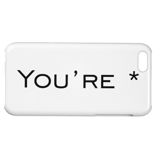 You're - Grammar Correction iPhone 5C Cases