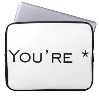You're - Grammar Correction Laptop Computer Sleeves