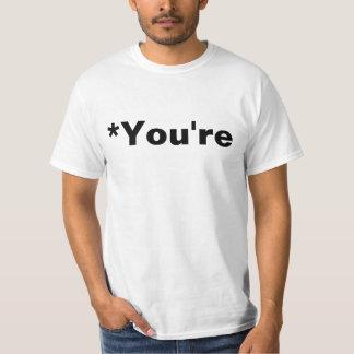 *you're Grammar Nazi T Shirts