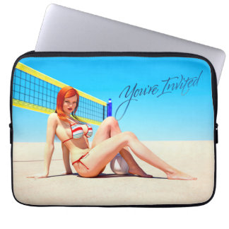 You're Invited Belle Laptop Sleeve