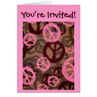 You're Invited!-Card-Peace Signs/Camo Look Design Card