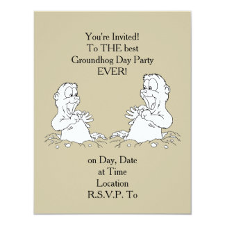 You're Invited! Groundhog Day Party Invitation