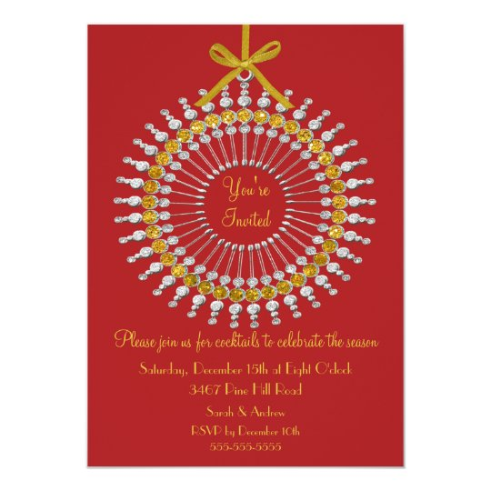 You're invited ornament Christmas Party Invitation
