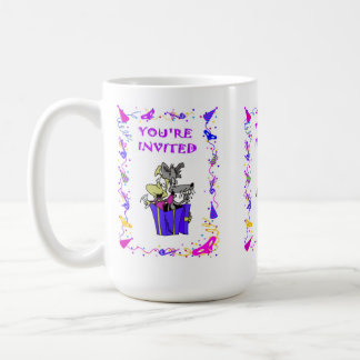 You're invited, parcel with dogs basic white mug