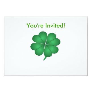 You're Invited Shamrock Invitation Card