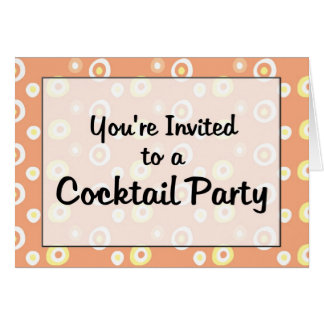 You're Invited to a Cocktail Party Greeting Card