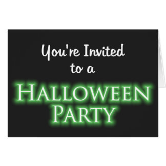 You're Invited to a Halloween Party Greeting Card