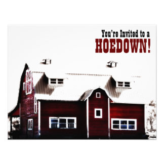 You're invited to a Hoedown! Country Party Personalized Announcement