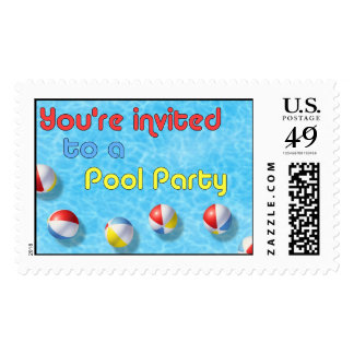 You're Invited to a Pool Party Postage Stamp