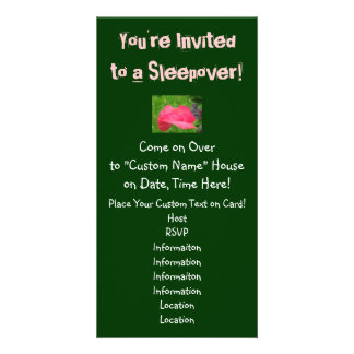 You're Invited to a Sleepover! Invitations Party Custom Photo Card