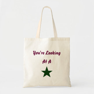 You're Looking At A Star tote Canvas Bags