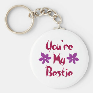 You're My Bestie Basic Round Button Key Ring