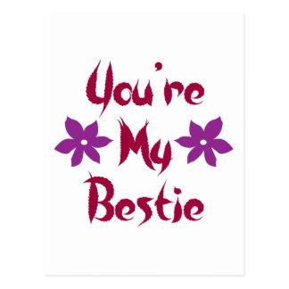 You're My Bestie Postcard