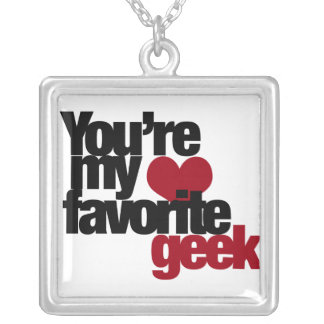 Youre my favorite nerd square pendant necklace