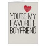You're My Favourite Boyfriend Funny Love Card