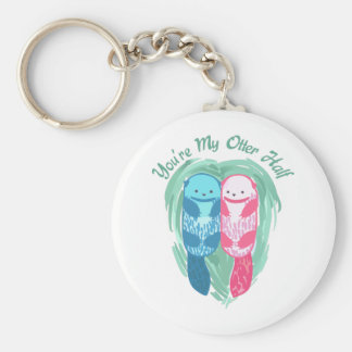 YOURE MY OTTER HALF BASIC ROUND BUTTON KEY RING