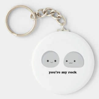 You're My Rock Basic Round Button Key Ring