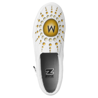 You're my Sunshine Abstract Fractal Art Monogram Printed Shoes