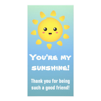 You're my Sunshine! Happy Sun Cartoon Photo Cards