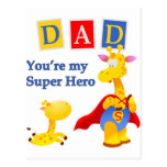 You're my Super Hero Post Cards