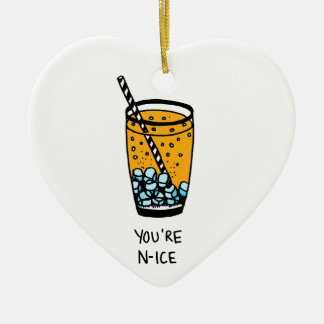 You're N-Ice Ceramic Heart Decoration