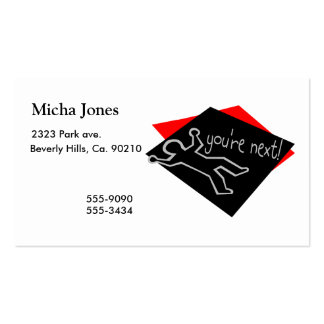 You're Next Chalk Outline Pack Of Standard Business Cards