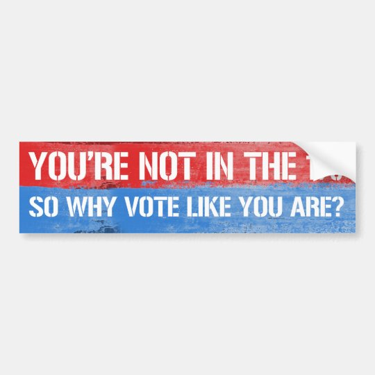 You're not in the one percent so why vote like you bumper sticker
