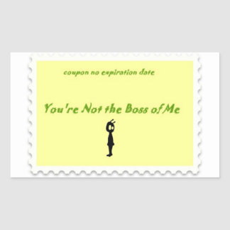 You're not the boss Alien sticker coupon