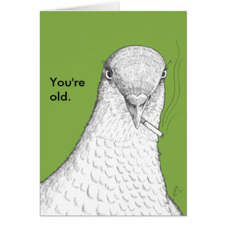 You're Old Funny Old Age Humor Birthday Card