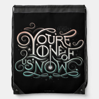 You're One Of Us Now Colorful Graphic Drawstring Bag