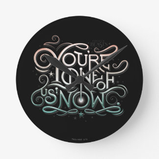 You're One Of Us Now Colorful Graphic Round Clock