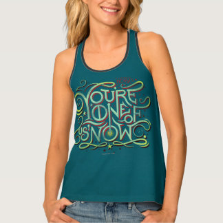 You're One Of Us Now Green Graphic Tank Top