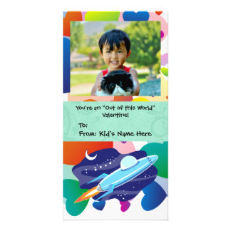You're Out of this World Kid's Valentine Customised Photo Card