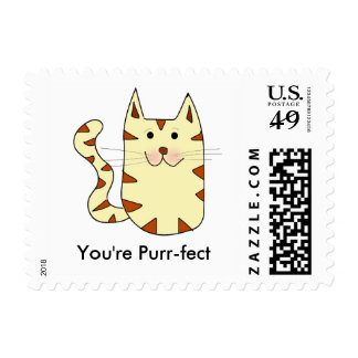 You're perfct kitty cat postage customizable