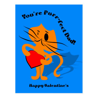 Youre Perfect Dad Valentine's Day Card Post Card
