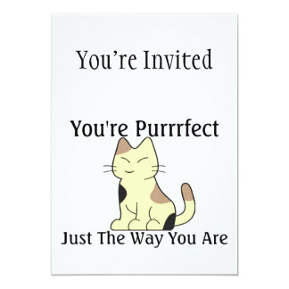 You're Purrrfect Kitty Cat 13 Cm X 18 Cm Invitation Card