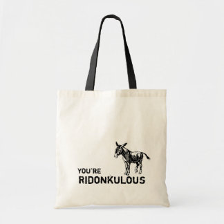 You're Ridonkulous! Vintage cute donkey tote. Tote Bag