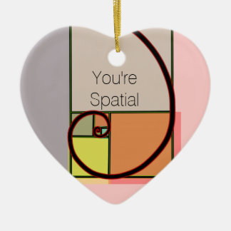 You're Spatial Ceramic Heart Decoration