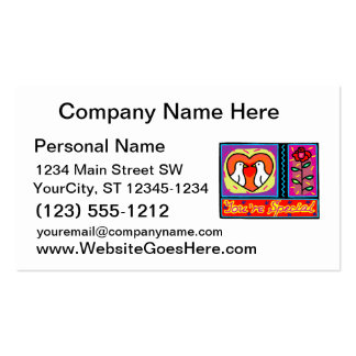 youre special collage dove rose business cards