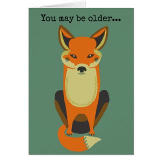 You're Still a Fox Card