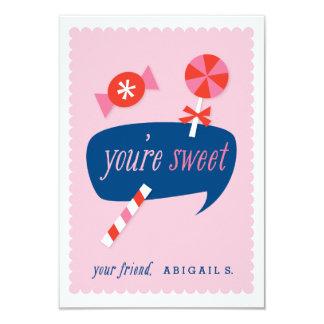 You're sweet classroom valentine 9 cm x 13 cm invitation card