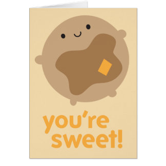 You're Sweet! Kawaii Pancake Card
