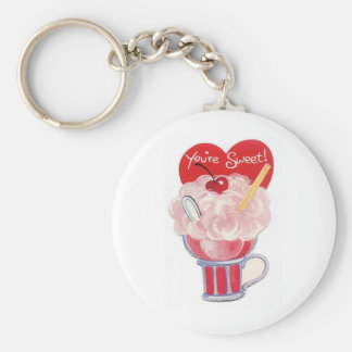 You're Sweet Basic Round Button Key Ring