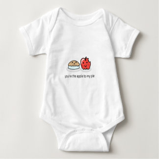 You're the apple to my pie baby bodysuit