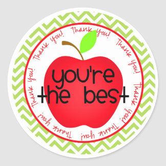 You're The Best Classic Round Sticker