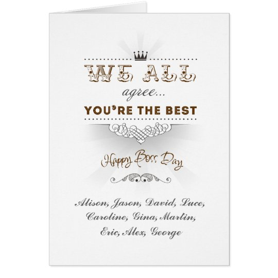 You're the best, Happy Boss's Day Card