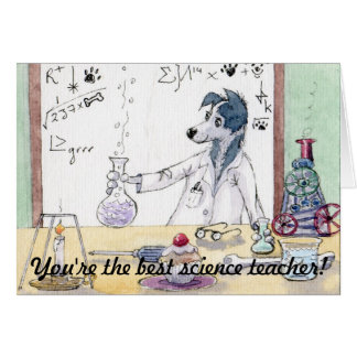 You're The Best Science Teacher - Thank You CARD